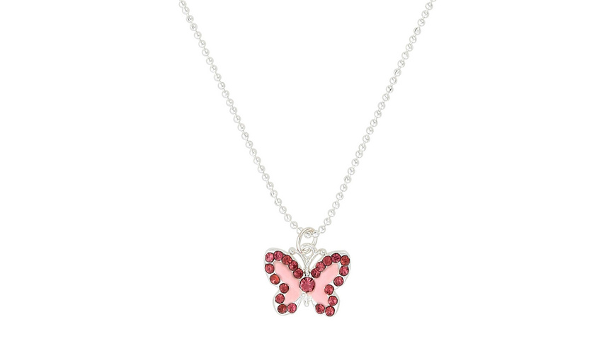 Kette - Rosa Schmetterling