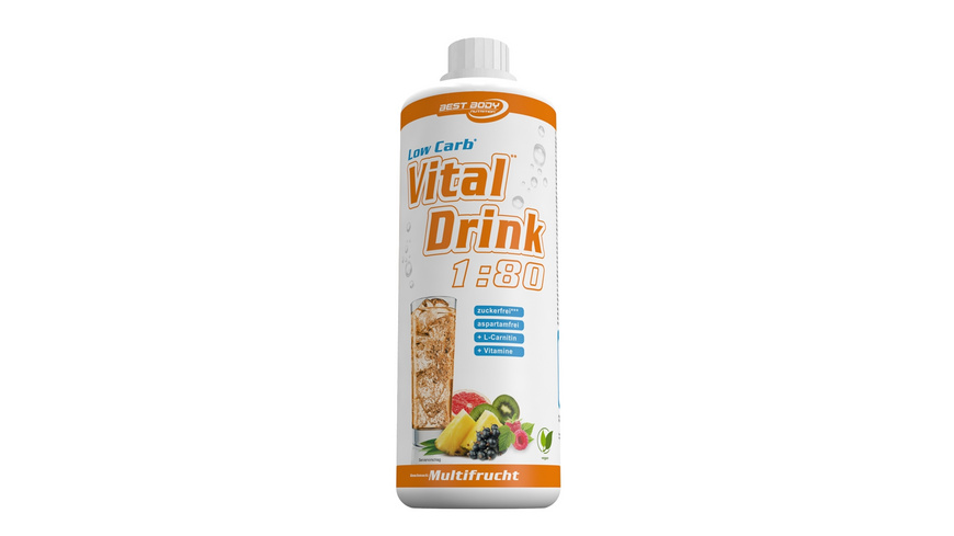 Best Body Nutrition Low Carb Vital Drink 1000ml-Multifrucht