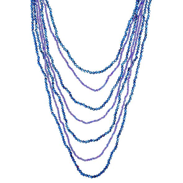 Kette - Blue Pearls