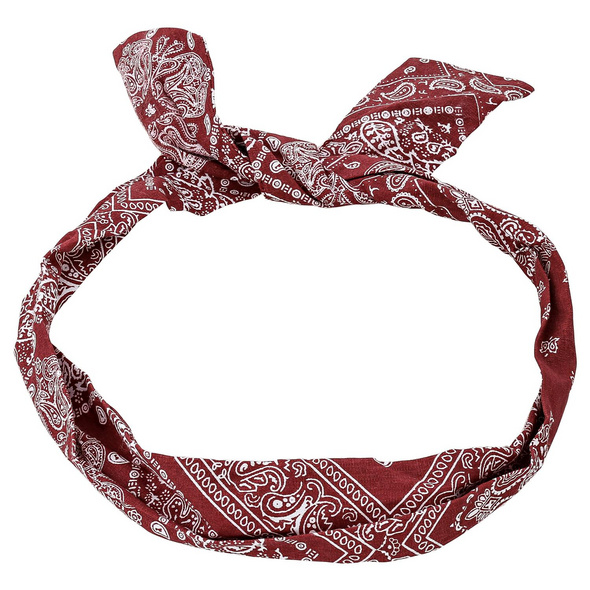 Haarband - Red Paisley