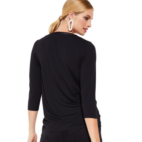 3/4-Arm Shirt im raffinierten Materialmix - 3/4-Arm Shirt
