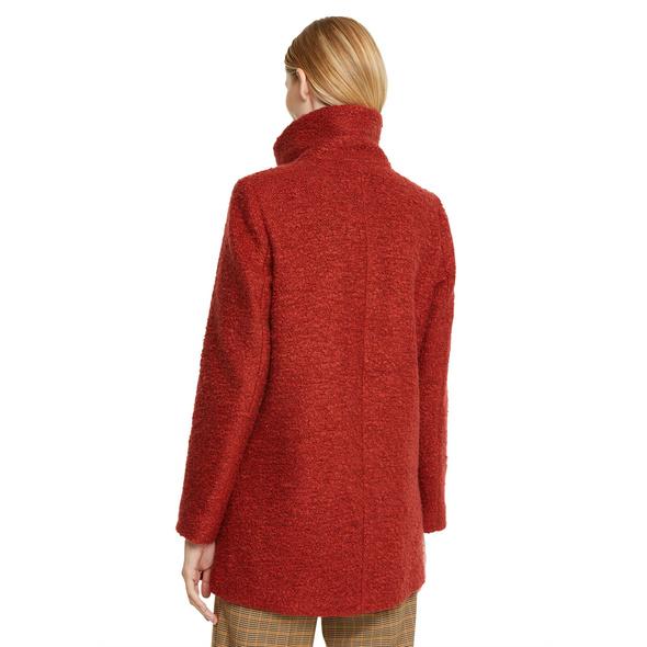 Bouclé-Jacke mit Stehkragen - Wollmix-Jacke