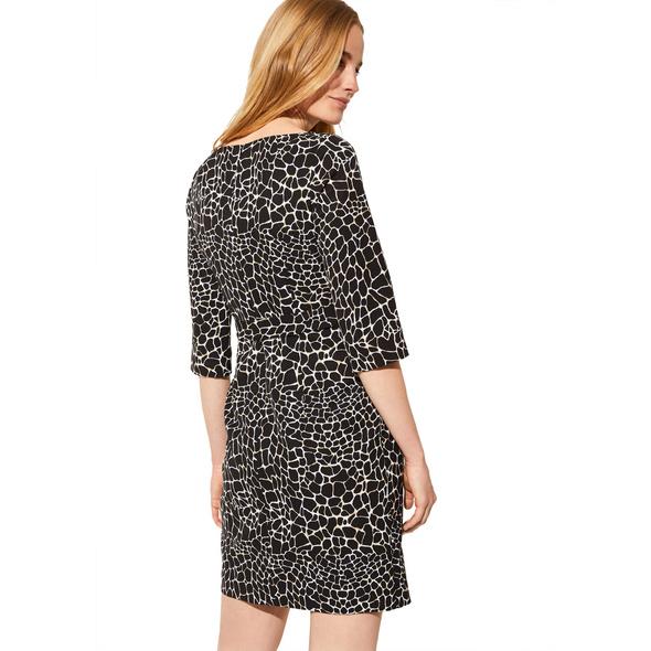 Kurzes Kleid mit Animal-Muster - Wickel-Kleid