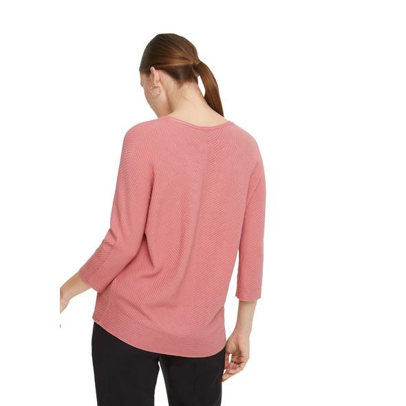 V-Neck-Pullover aus Strukturstrick - Feinstrick-Pullover