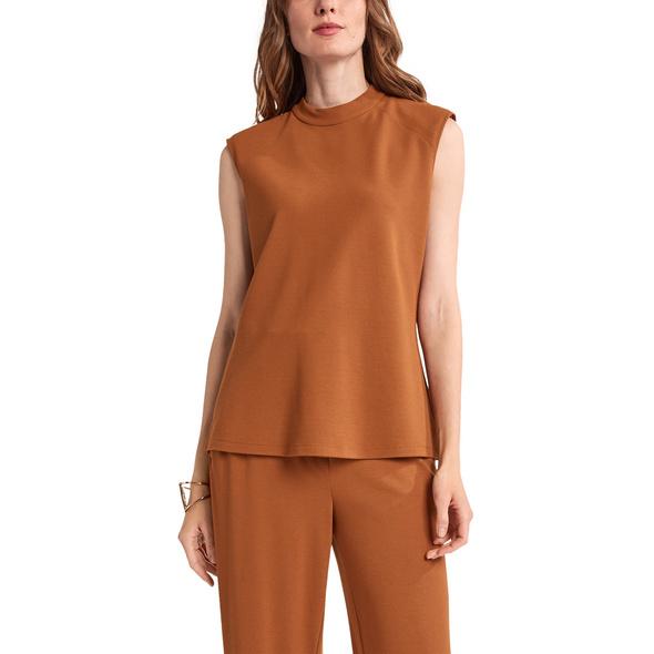 Shirt mit verstärkten Schultern - Jerseytop