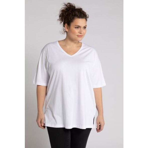 T-Shirt, V-Ausschnitt, Relaxed, Halbarm