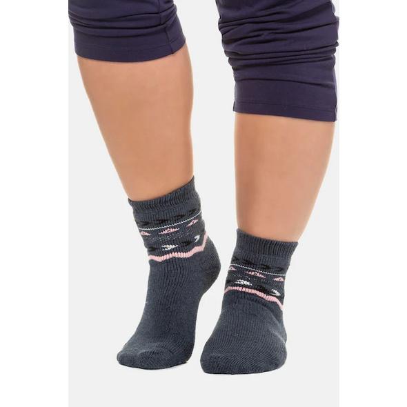 Homewear-Socke, gemusterter Schaft, kuschelweich