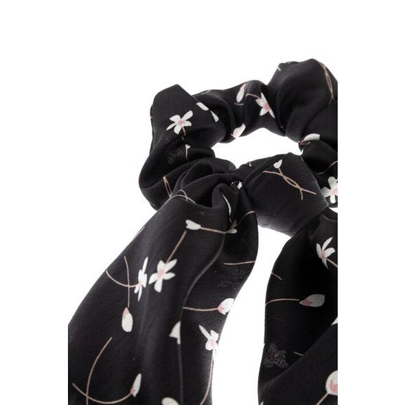 Haargummi-Tuch, elastisch, Blütenmuster