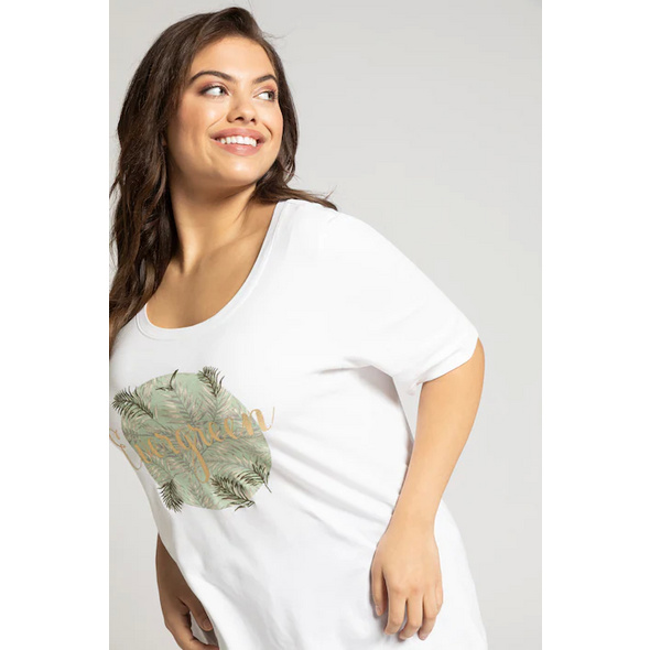 T-Shirt, Motiv EVERGREEN, Stickerei, Classic