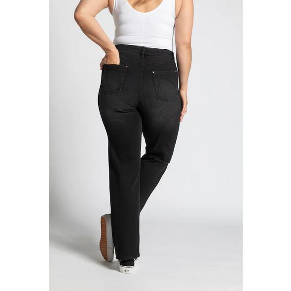 Jeans Mona, Ziersteinchen, gerade 5-Pocket-Form