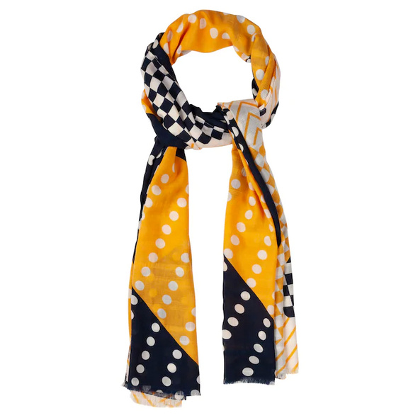 Schal, grafisches Muster, frische Farben