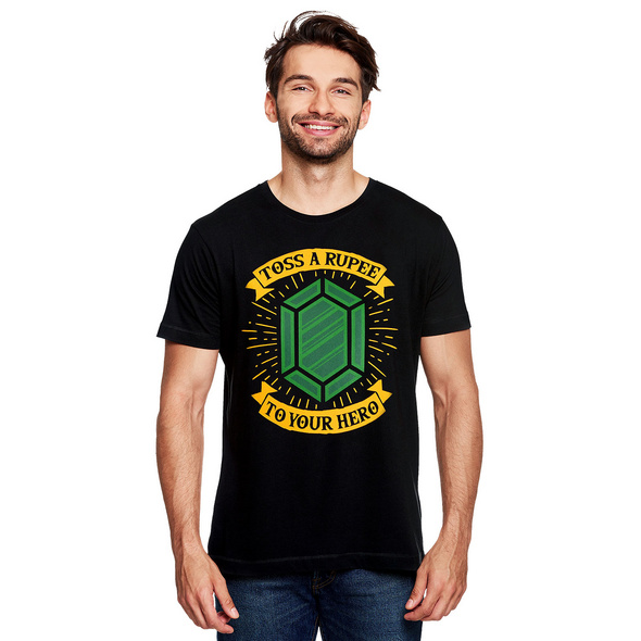 Toss a Rupee to Your Hero T-Shirt für Zelda Fans schwarz