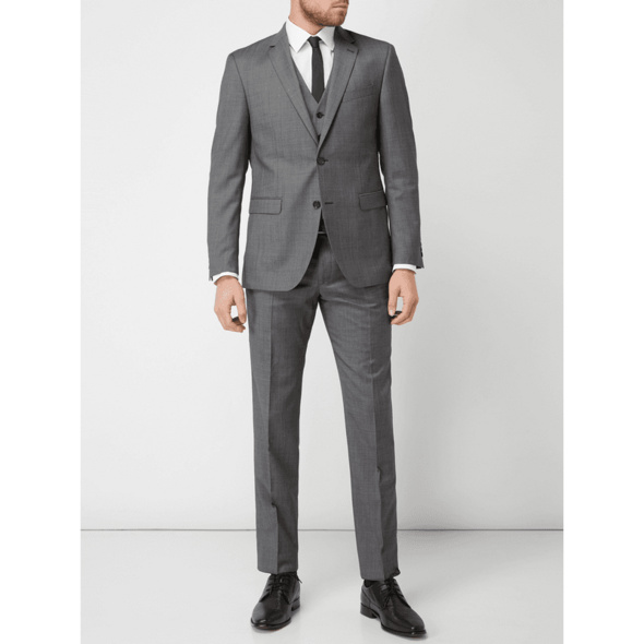 Regular Fit Anzughose aus Schurwollmischung
