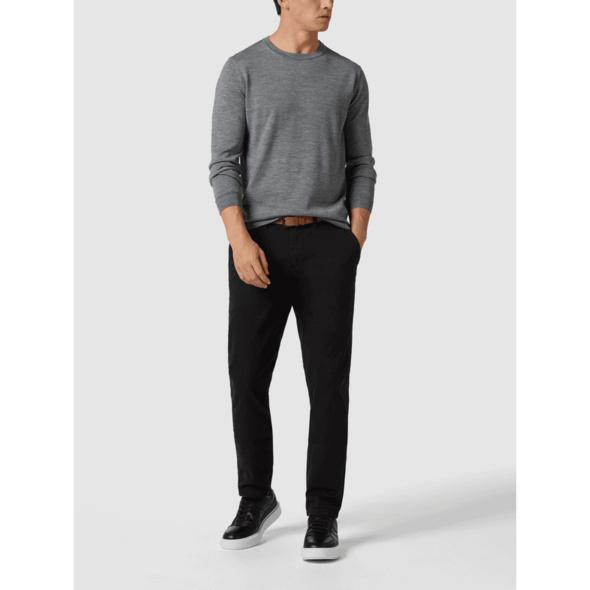 Chino mit Stretch-Anteil und Gürtel Modell 'John'