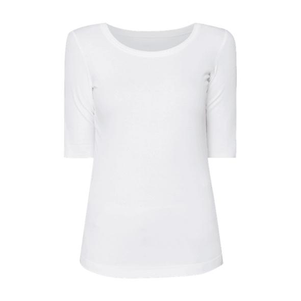 Shirt mit Rippenstruktur und 1/2-Arm