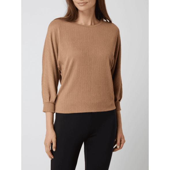 Sweatshirt mit Rippenstruktur Modell 'Gertrude'