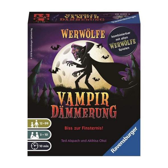 Ravensburger 26003 -Werwölfe Vampirdämmerung, Bluffspiel, Kartenspiel, Familienspiel
