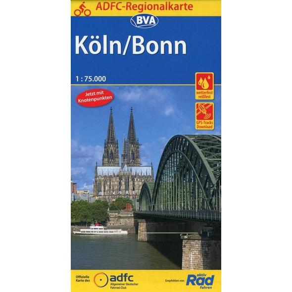 ADFC-Regionalkarte Köln/Bonn 1:75.000
