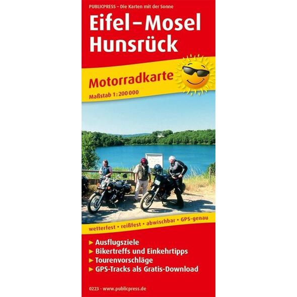 Motorradkarte Eifel - Mosel - Hunsrück 1:200 000