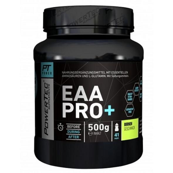 POWERTEC SUPPLEMENTS EAA Pro+ Drink - Pulver mit essentiellen Aminosäuren und Glutamin - für raschen Muskelaufbau. Muskelerhalt und Regeneration Ananas. 500 g