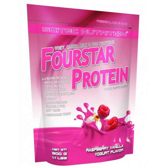 Scitec Nutrition Fourstar Protein 500g-French-Vanilla