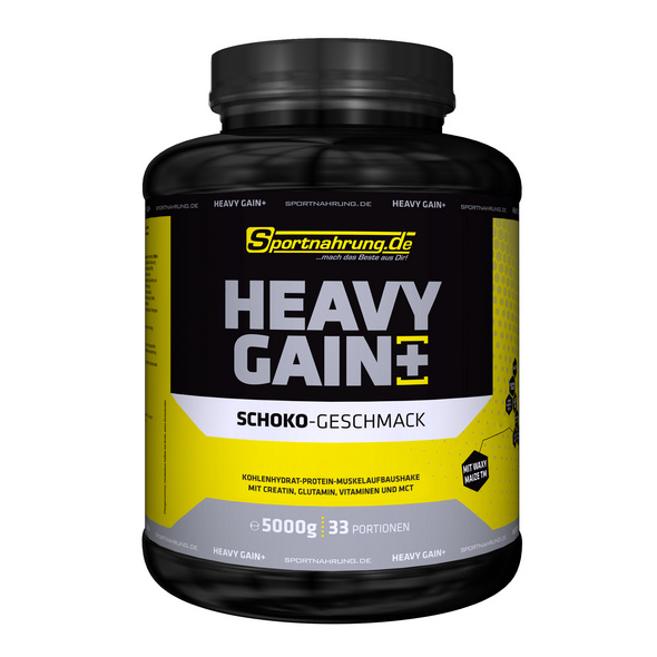 Sportnahrung.de Heavy Gain - der Top Weight Gainer angereichert mit Creatin. Glutamin. Vitaminen und MCT Haselnuss. 5000 g