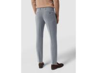 Slim Fit Anzug-Hose mit Webmuster