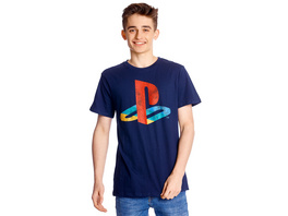 PlayStation - Logo T-Shirt blau