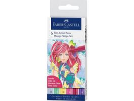 Faber-Castell Tuschestifte Pitt Artist Pens, 6er Set Manga Shojo