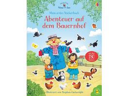 Nina und Jan - Mein erstes Stickerbuch: Abenteuer auf dem Bauernhof