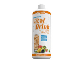 Best Body Nutrition Low Carb Vital Drink 1000ml-Erdbeere